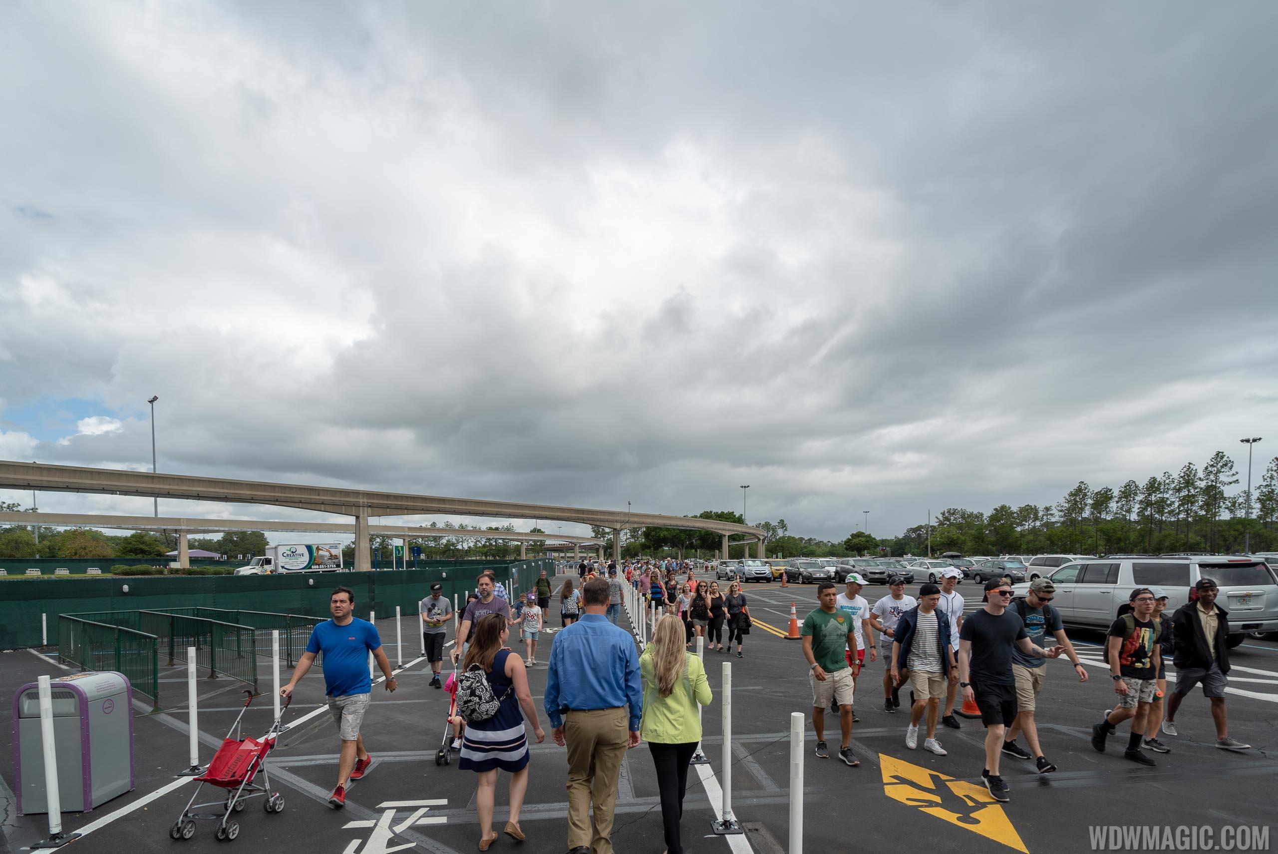Epcot arrival area refurbishment - May 2019