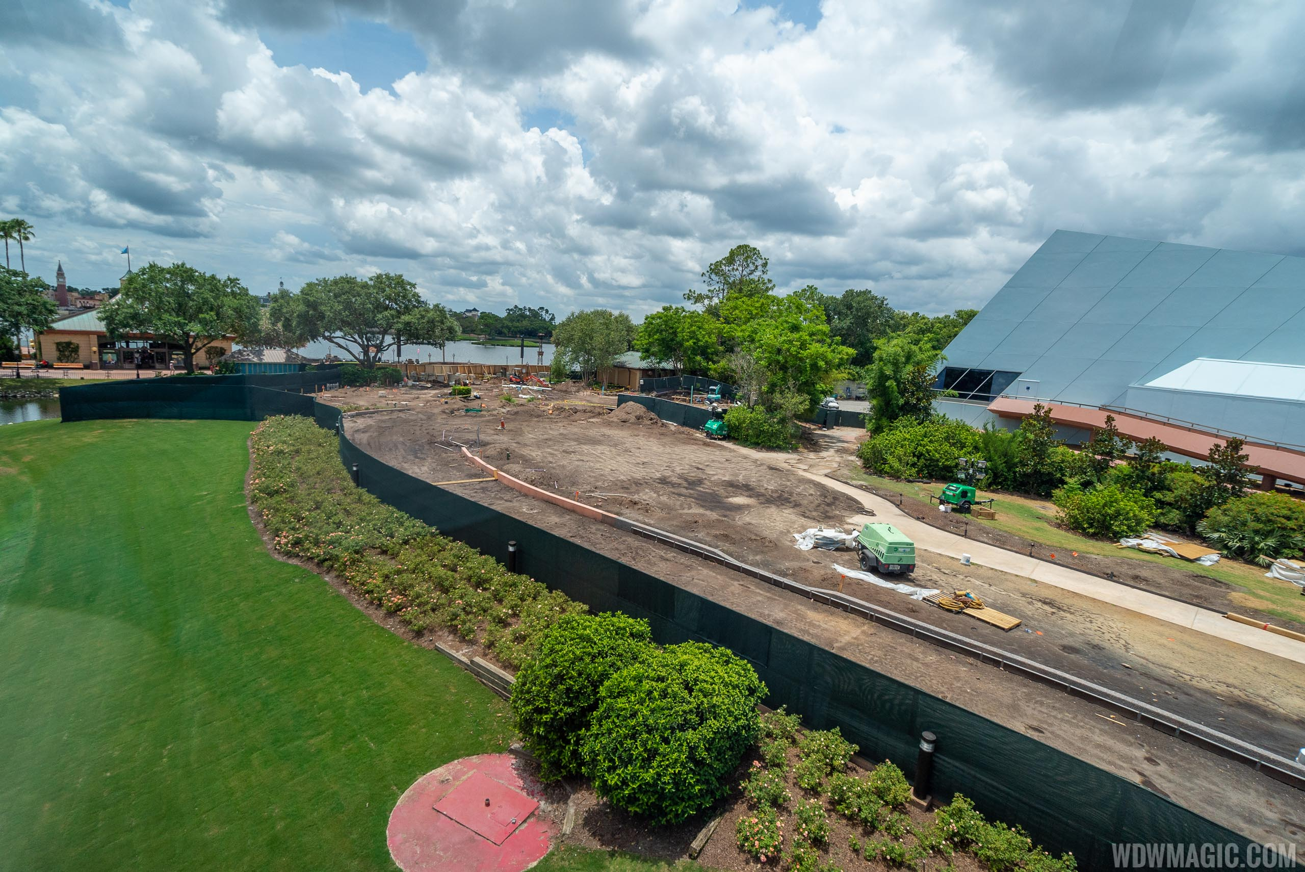 Epcot Rosewalk widening construction - July 2019