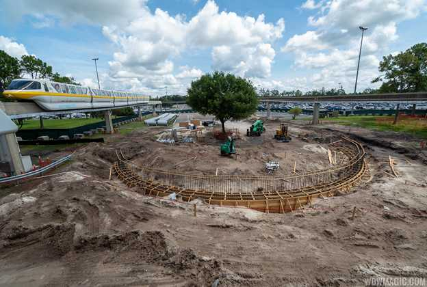 Epcot arrival area refurbishment - July 2019