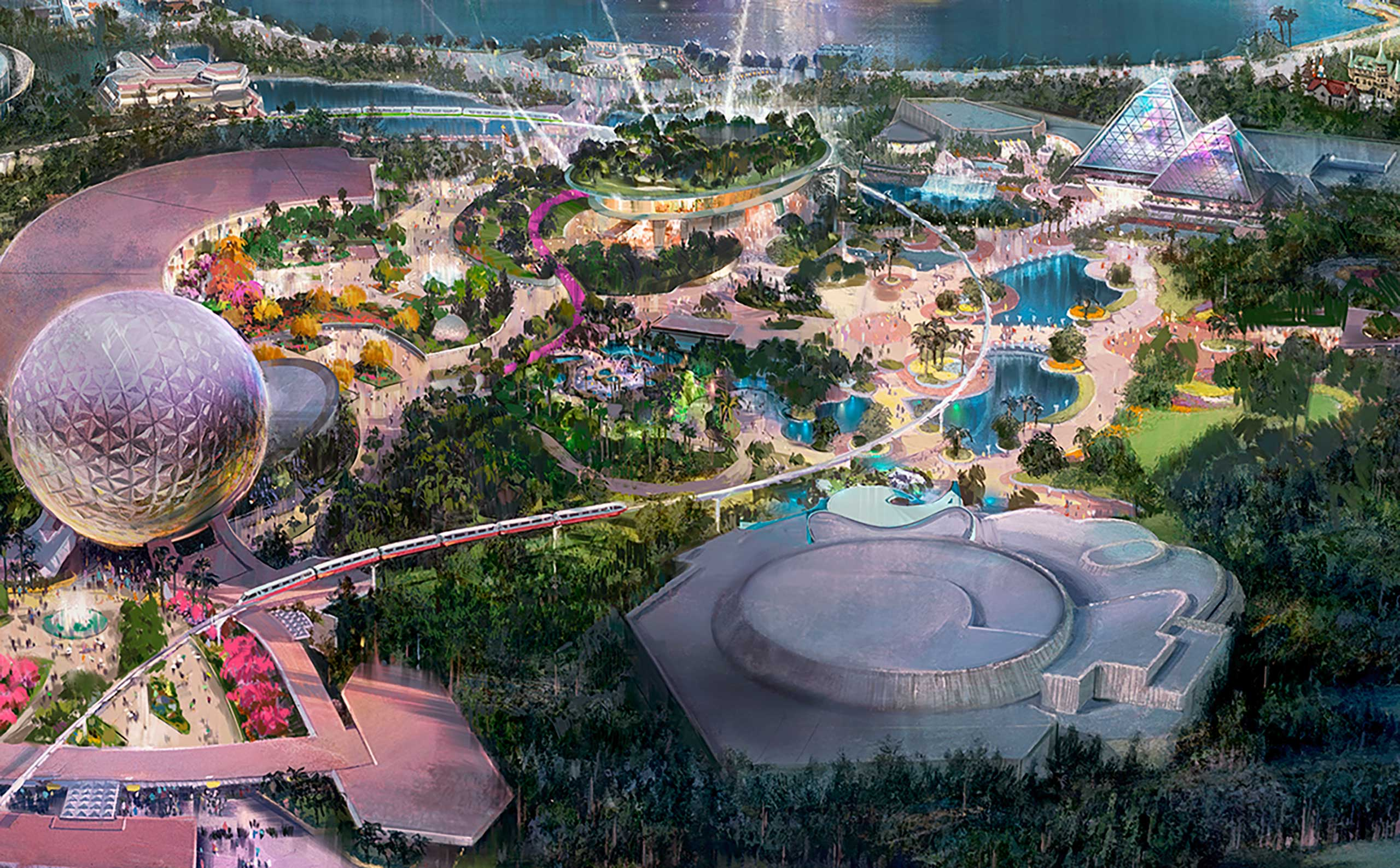 The Journey of Water will be built on some of the land currently occupied by Innoventions West