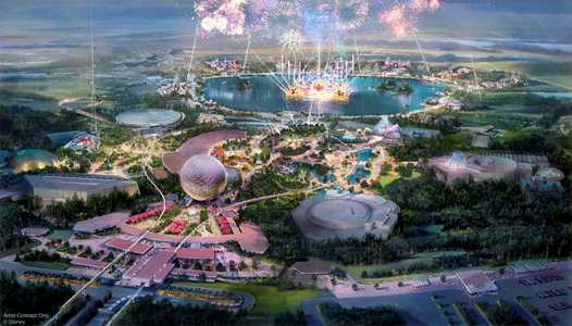 PHOTOS - Epcot's new central spine design revealed in new concept art