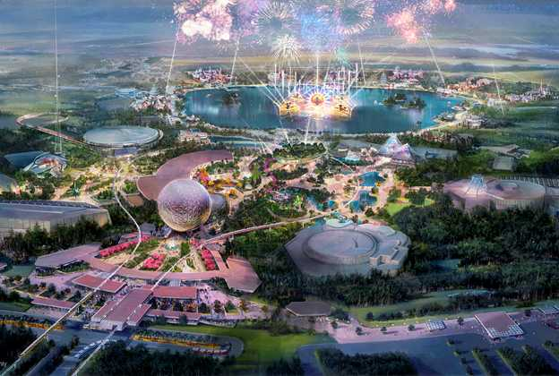 Epcot new central spine concept art