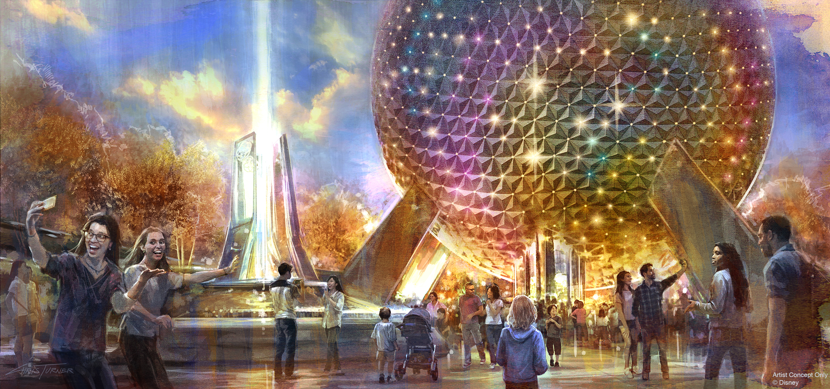 Concept art of Epcot's new main entrance