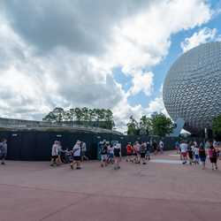 Epcot Future World Construction Walls - September 2019