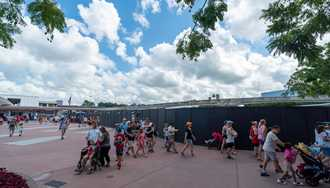 PHOTOS - Construction walls throughout Epcot's Future World