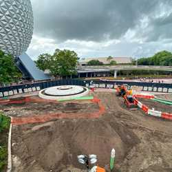 Epcot central area construction - October 2019