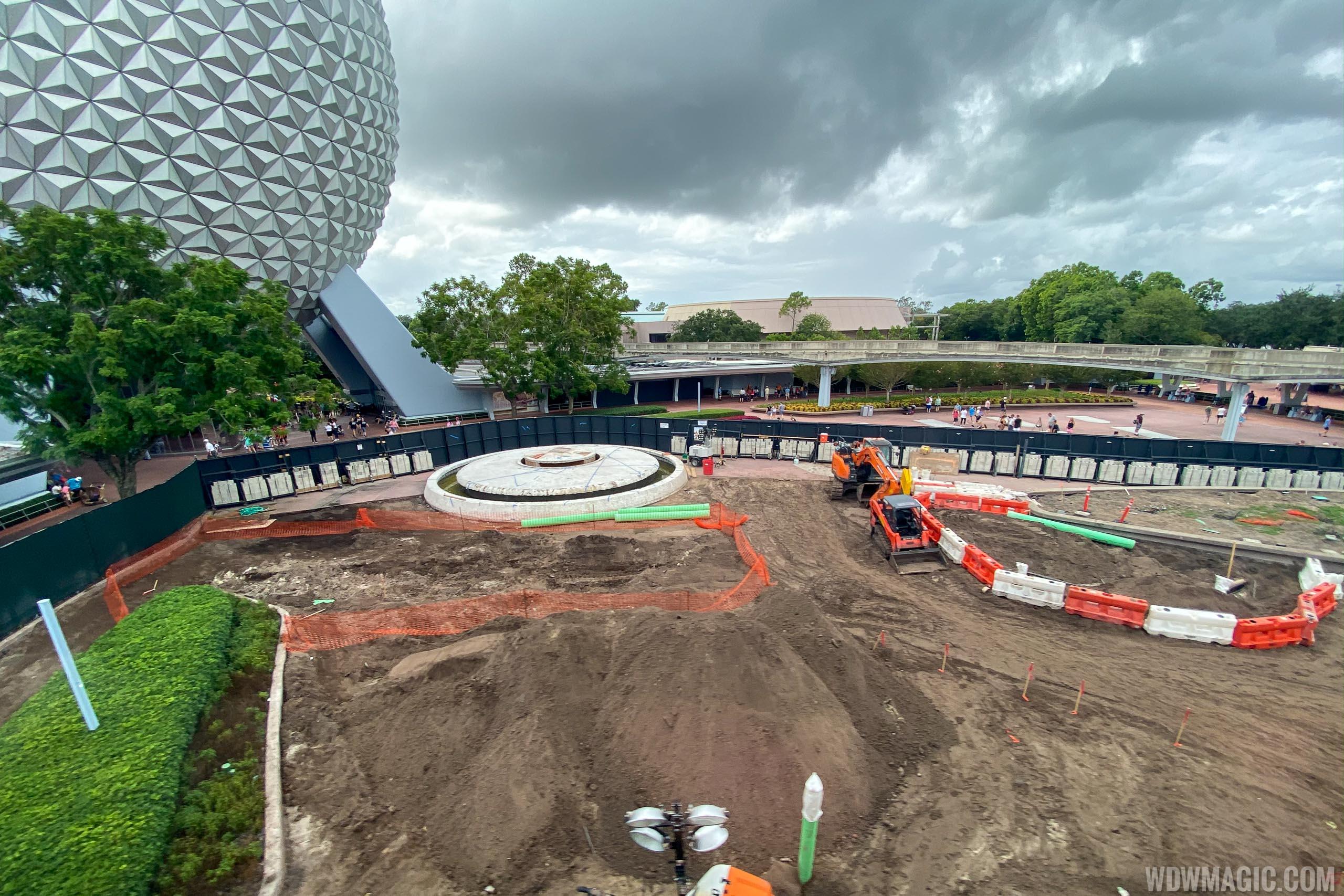 Epcot central area construction October 2019 - Entrance area