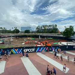 Epcot central area construction - October 2019