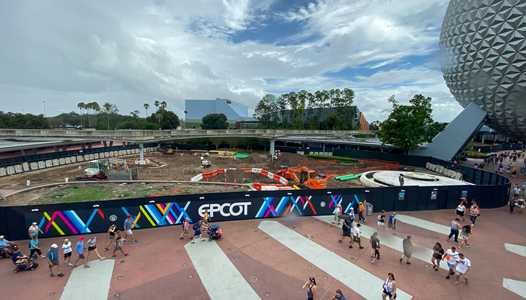 PHOTOS - A look at ground clearing and demolition in Epcot's central area