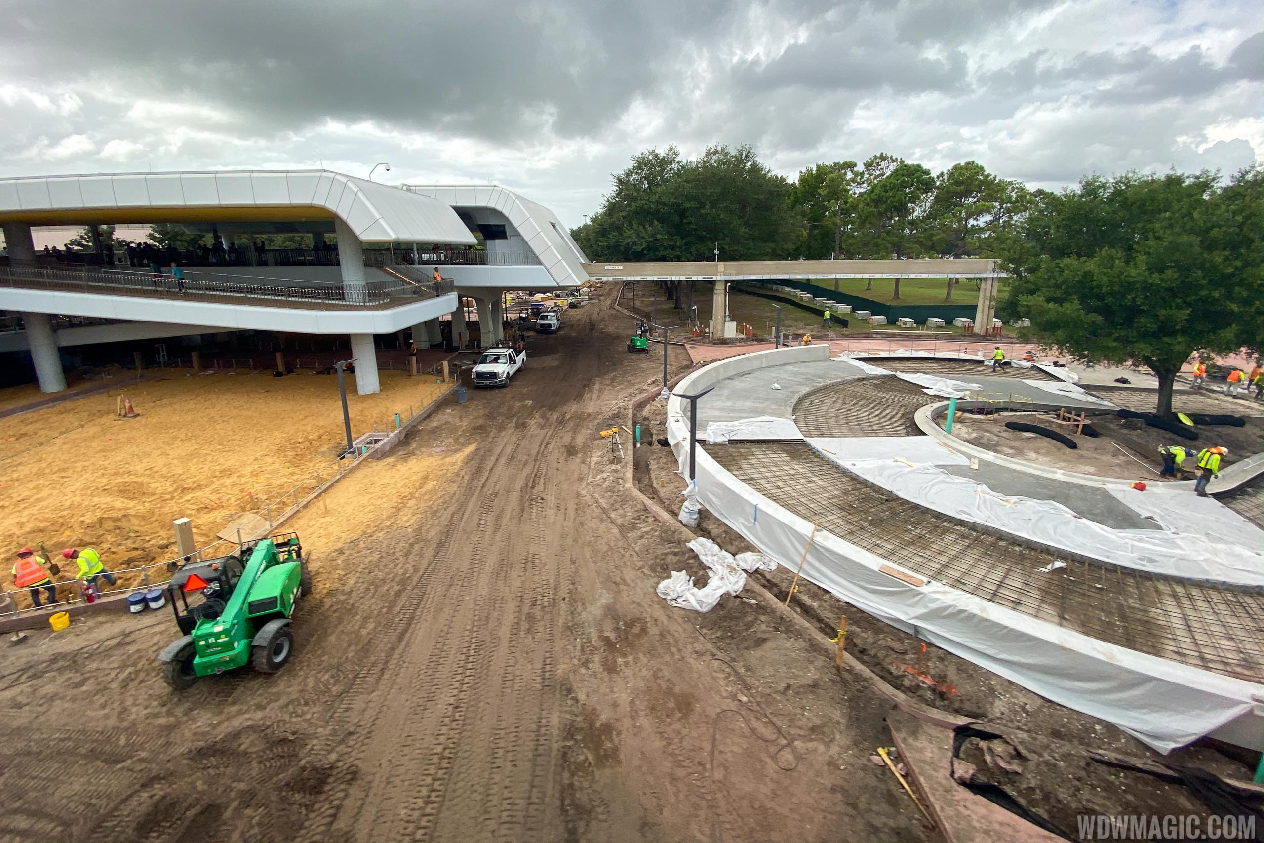Epcot arrival area October 2019