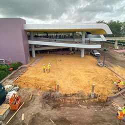 Epcot arrival area refurbishment - October 2019