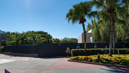 PHOTOS - More walls go up in Epcot's Future World East with Test Track restrooms now closed