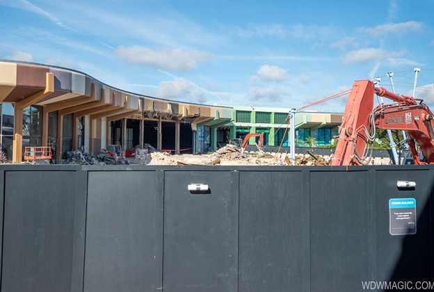 Epcot Future World West Demolition and Construction Walls - December 2019