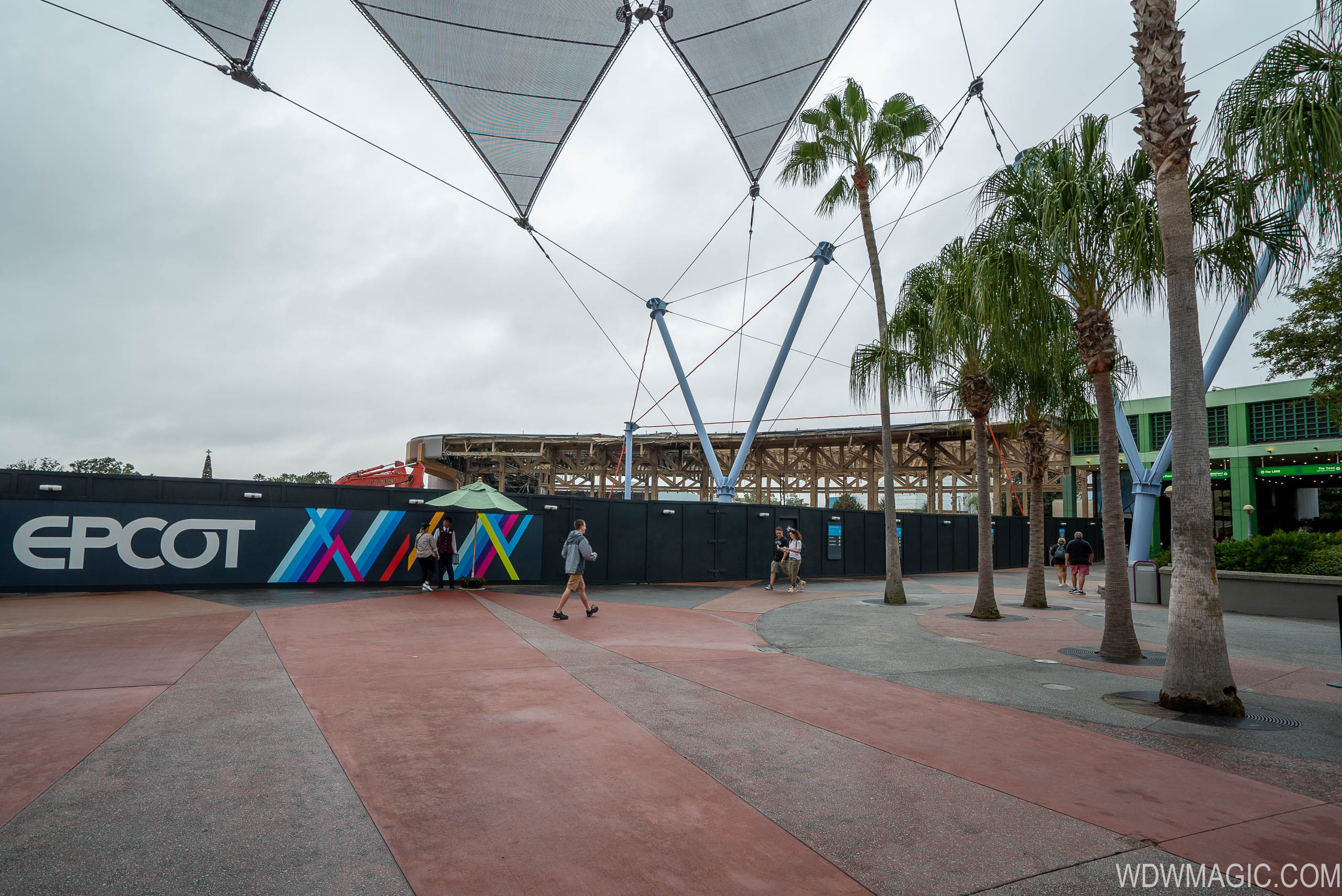 Epcot Future World West Demolition and Construction Walls - December 12 2019