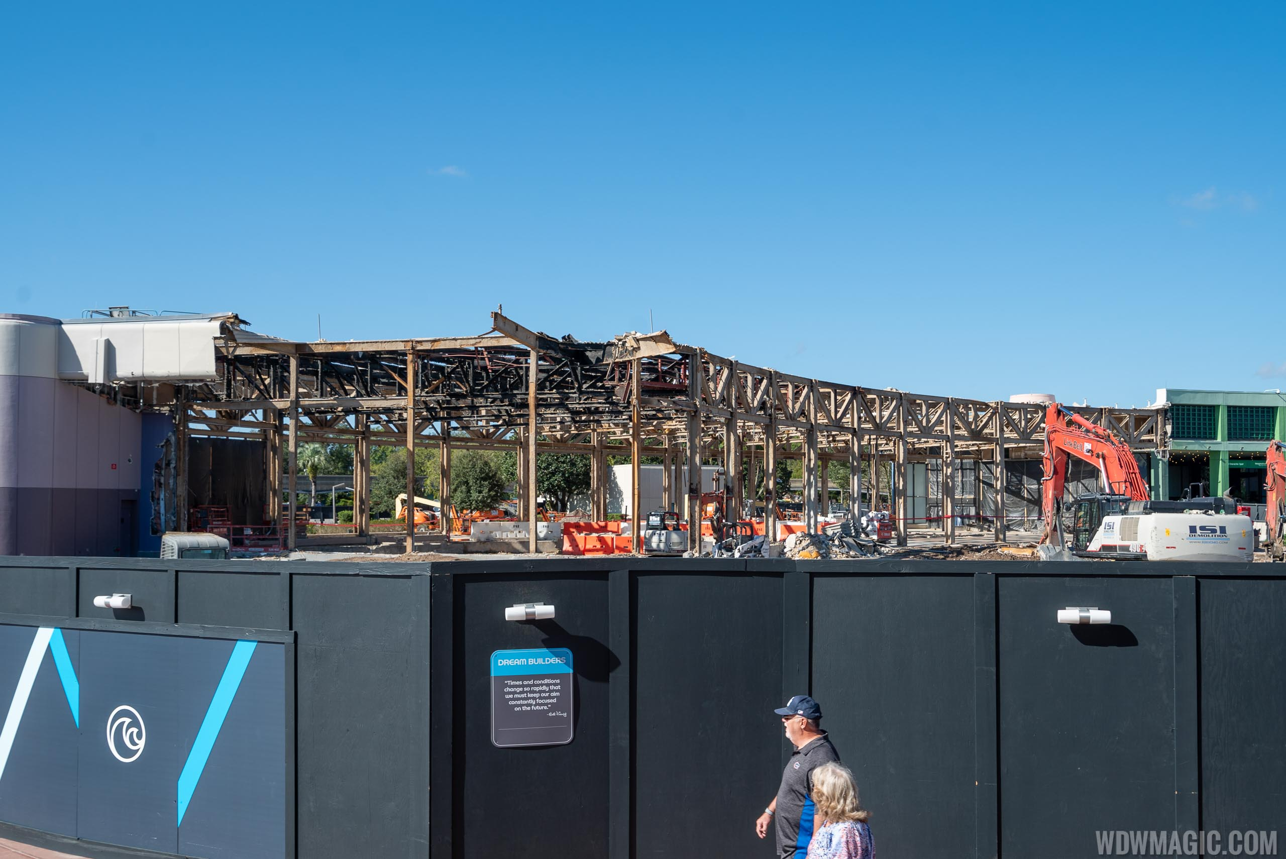 Epcot Future World West Demolition and Construction Walls - December 17 2019