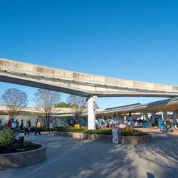 Epcot central area construction - January 2020