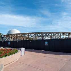 Epcot Future World West Demolition and Construction Walls - January 10 2020