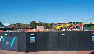 PHOTOS - Communicore West building south of the breezeway now completely removed at Epcot