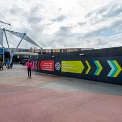 Epcot Future World East Construction Walls - January 2020