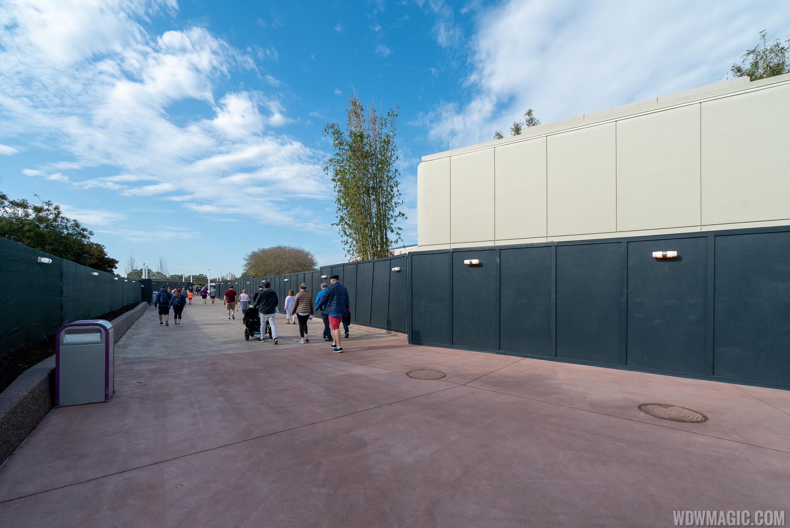 Epcot Future World East Construction Walls - January 2020