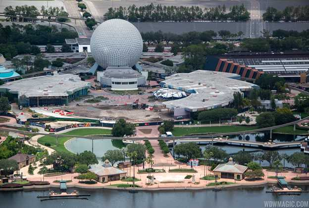 EPCOT aerial photos during COVID-19 closure - June 2020