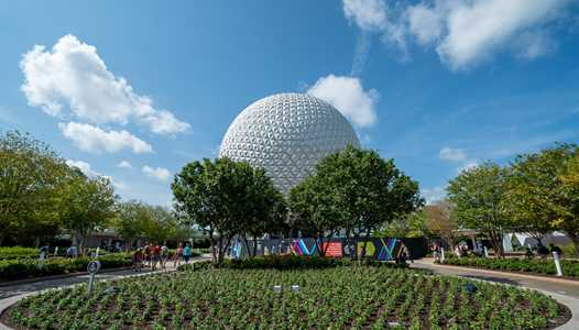 PHOTOS - More of the EPCOT main entrance area now open with a much greener look