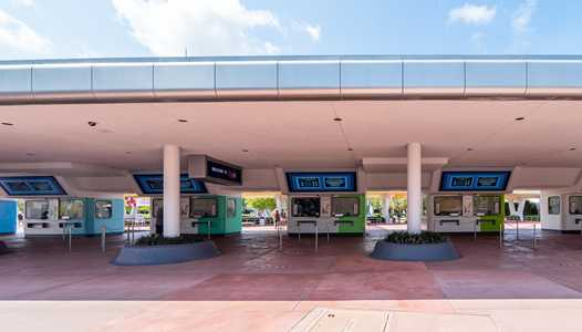 PHOTOS - New color scheme for EPCOT's main entrance ticket plaza