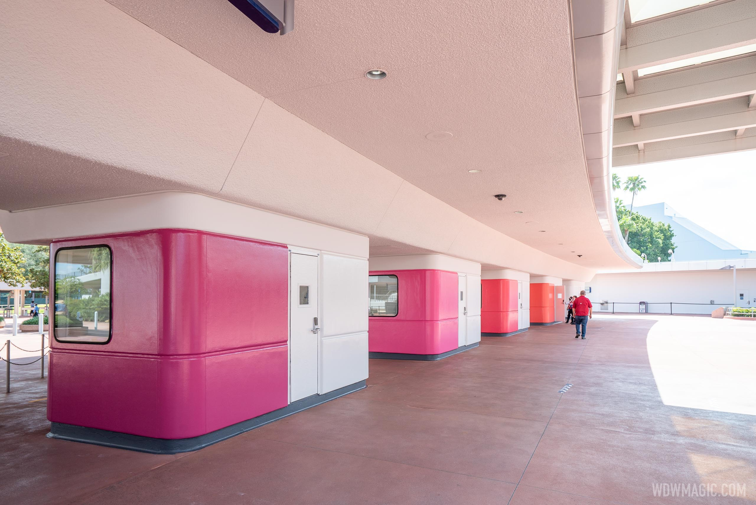 EPCOT new color ticket booths