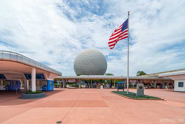 Walk-through of EPCOT July 29 2020