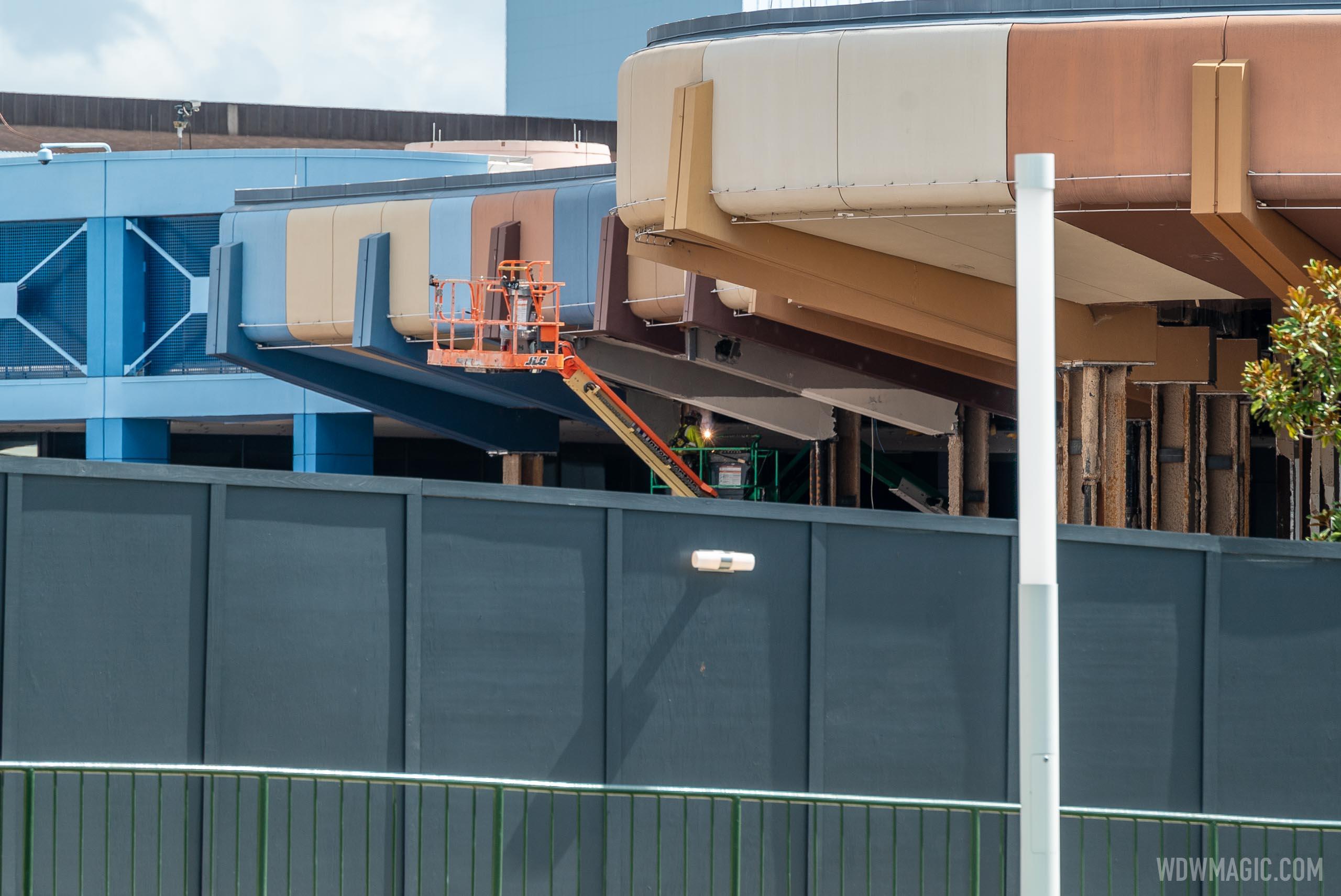 EPCOT Future World core demolition - August 27 2020