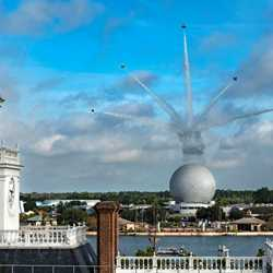 U.S. Air Force Thunderbirds Fly Over EPCOT