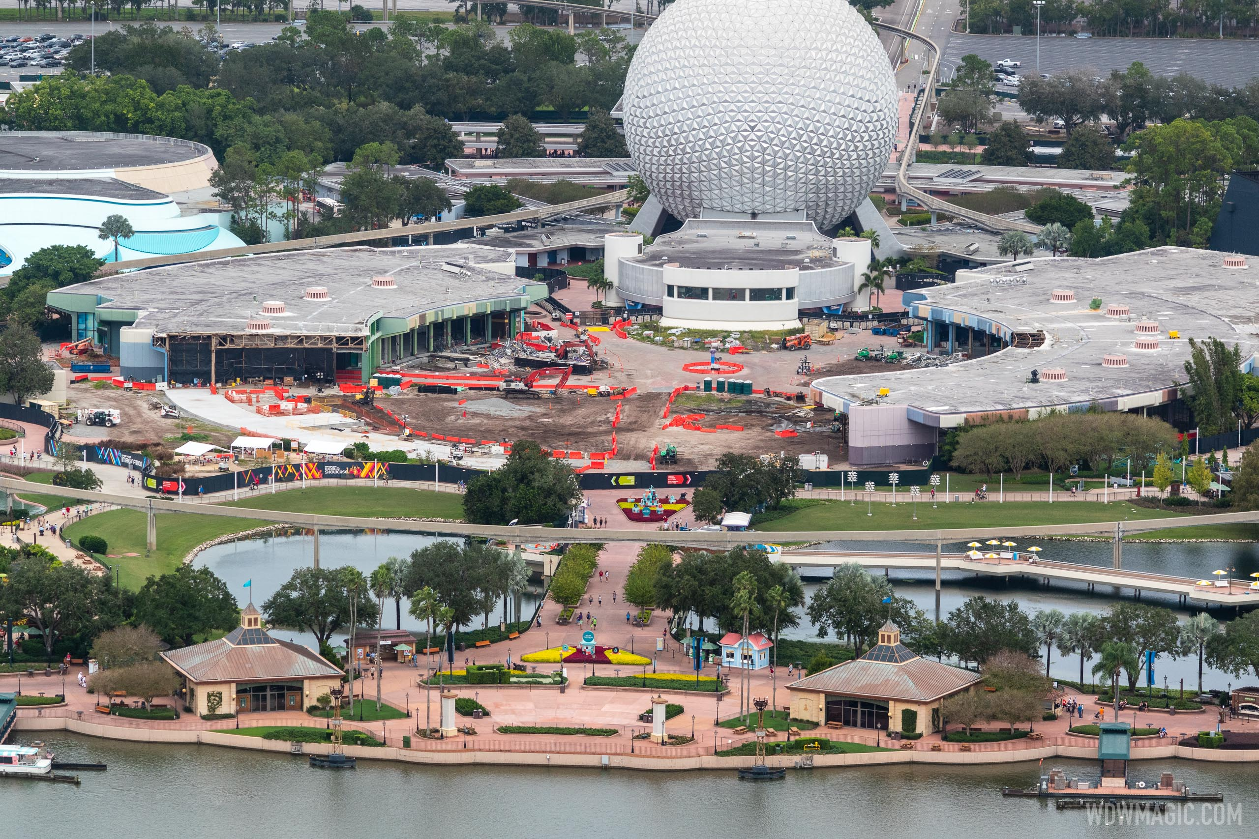 EPCOT Future World core demolition - November 13 2020