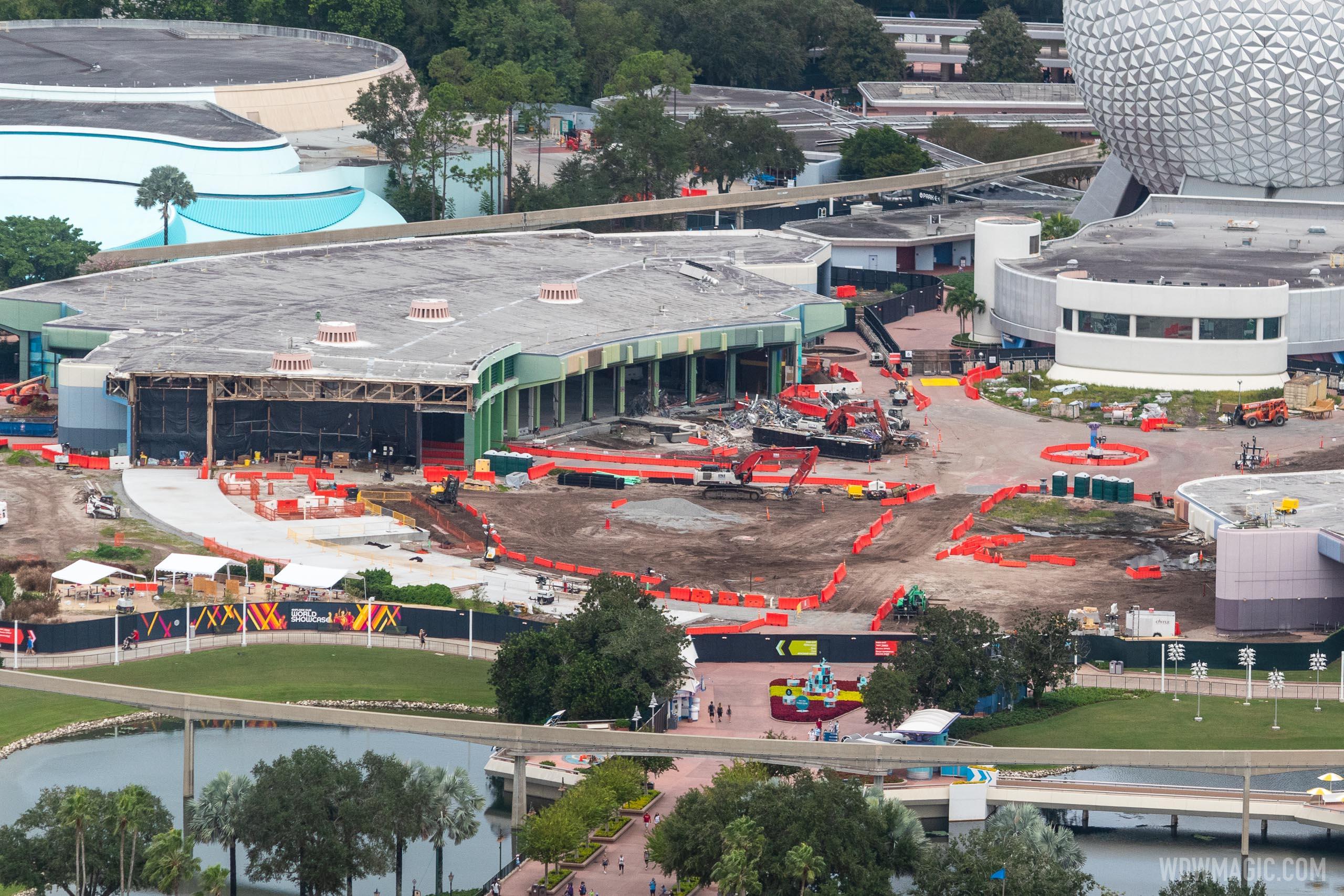 EPCOT Future World core demolition - November 13 2020