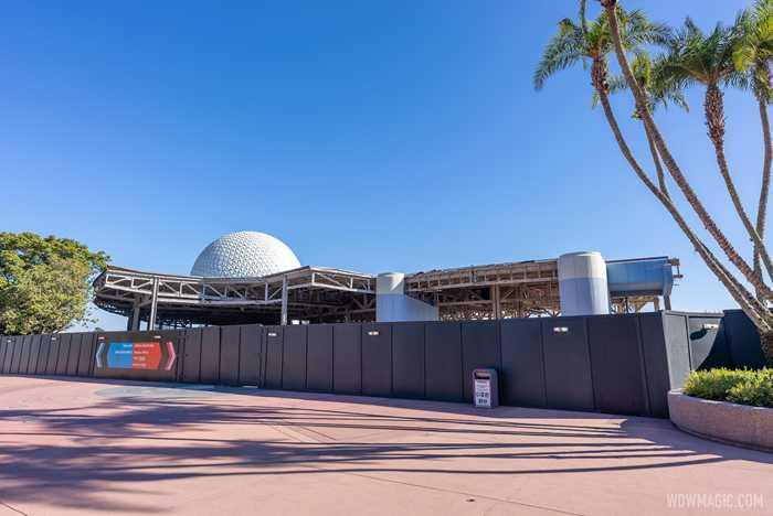 EPCOT Future World West demolition - December 18 2020