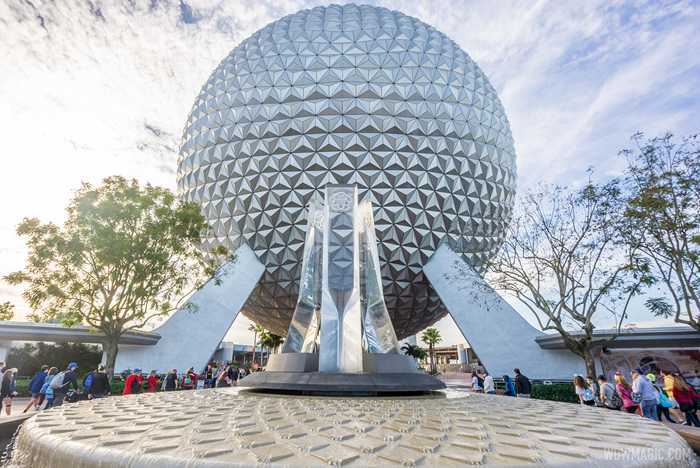 EPCOT main entrance fountain completed
