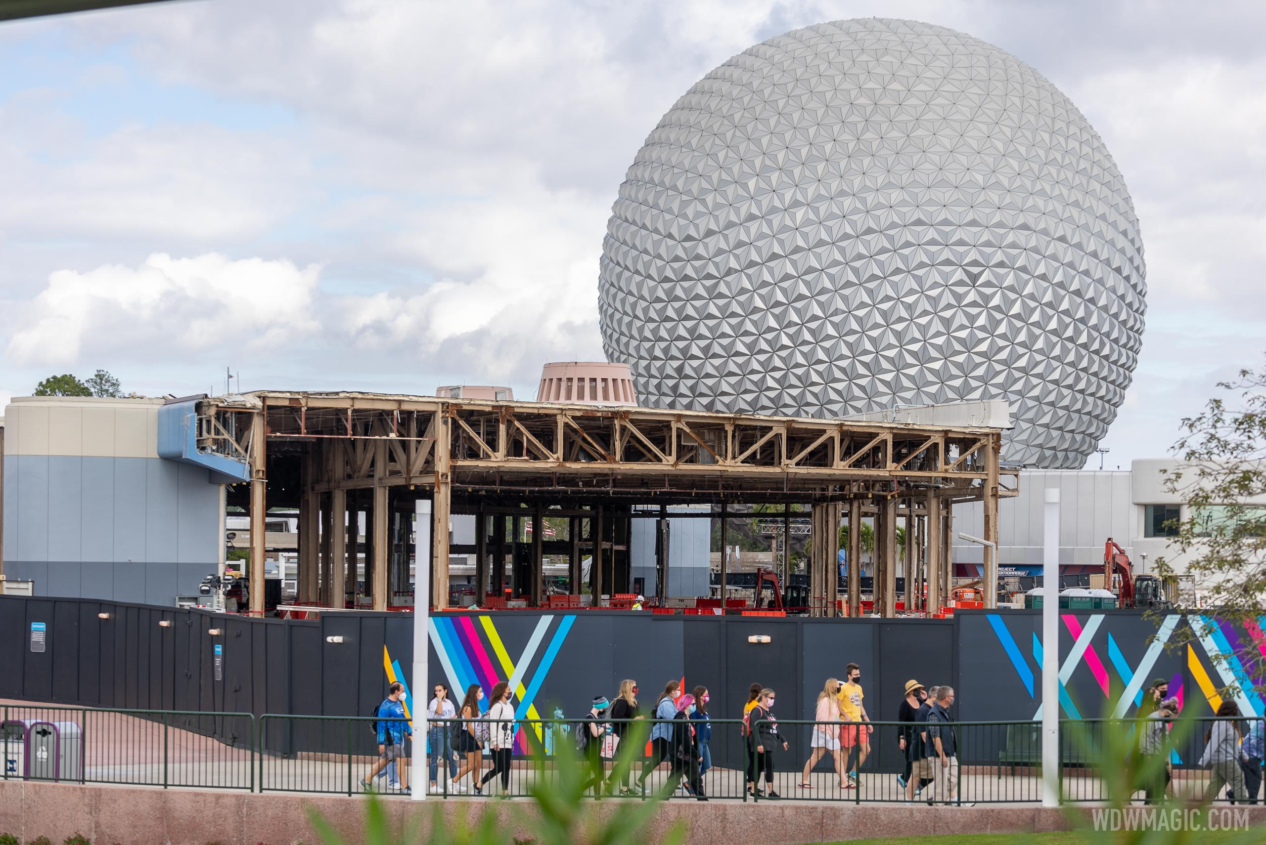 EPCOT Central Spine demolition and construction - January 8 2021