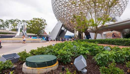 PHOTOS - Flag poles coming to the entrance of EPCOT