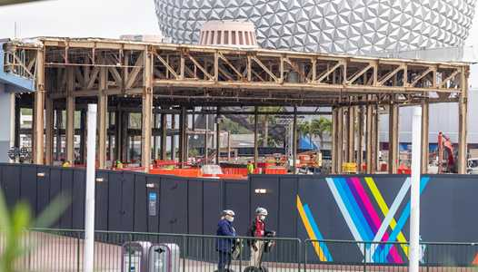 PHOTOS - Innoventions West demolition continues at EPCOT