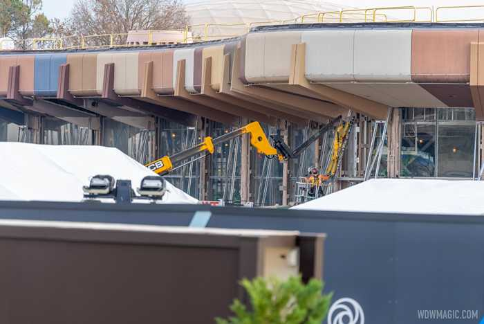 EPCOT Central Spine construction - January 26 2021