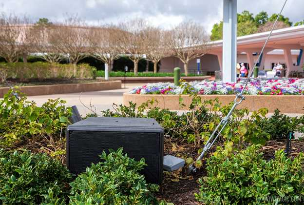Audio system upgrades at EPCOT main entrance