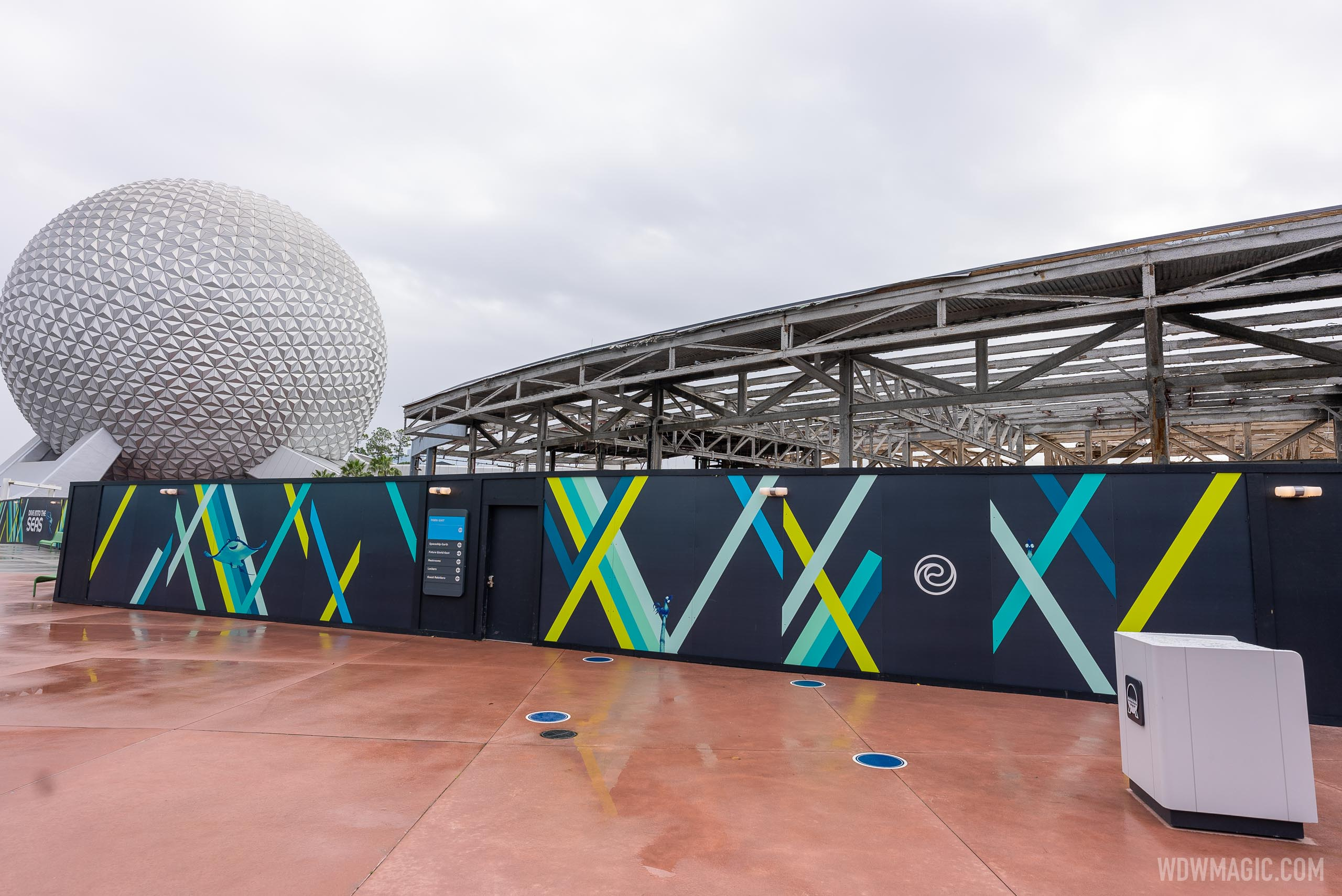 EPCOT Innoventions West demolition - February 17 2021