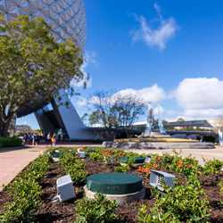 EPCOT main entrance eastern flag install