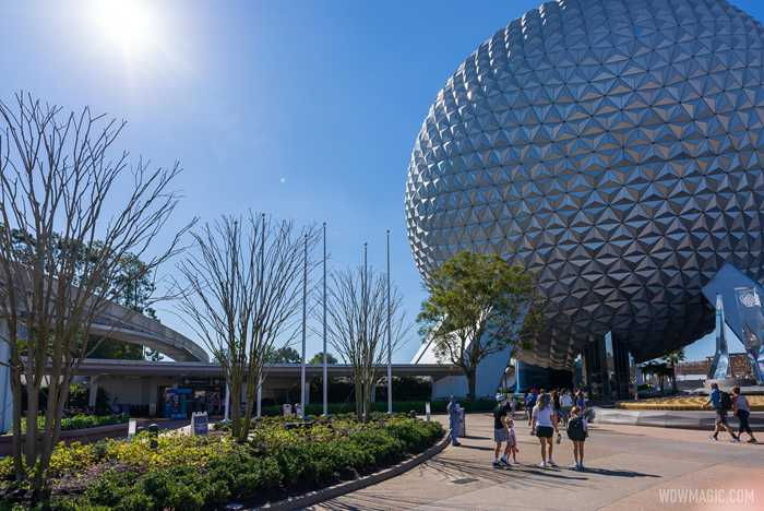 EPCOT main entrance east flag poles
