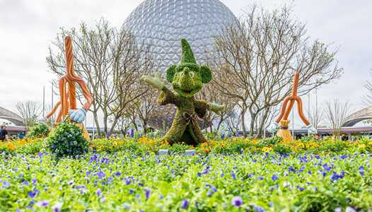 PHOTOS - EPCOT main entrance topiary arrive as part of the Flower and Garden Festival