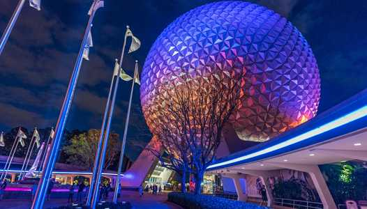 VIDEO - New perimeter lighting package on show at EPCOT'S main entrance