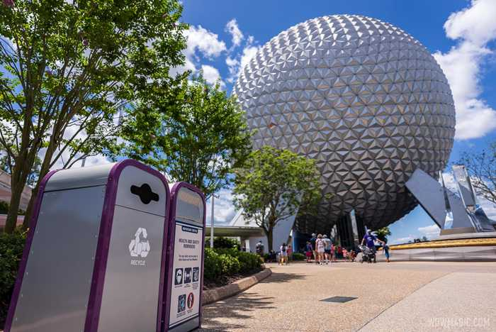 Trash can lids restored at EPCOT