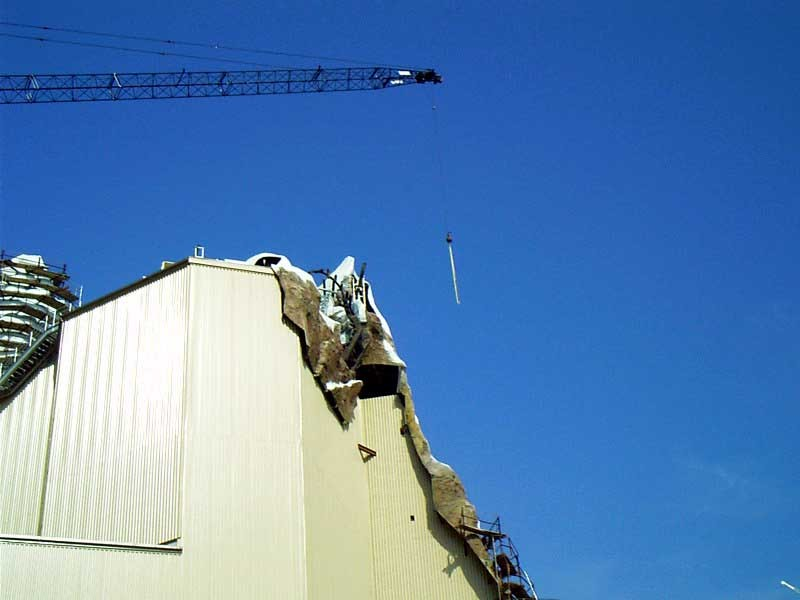 Expedition Everest construction - backstage