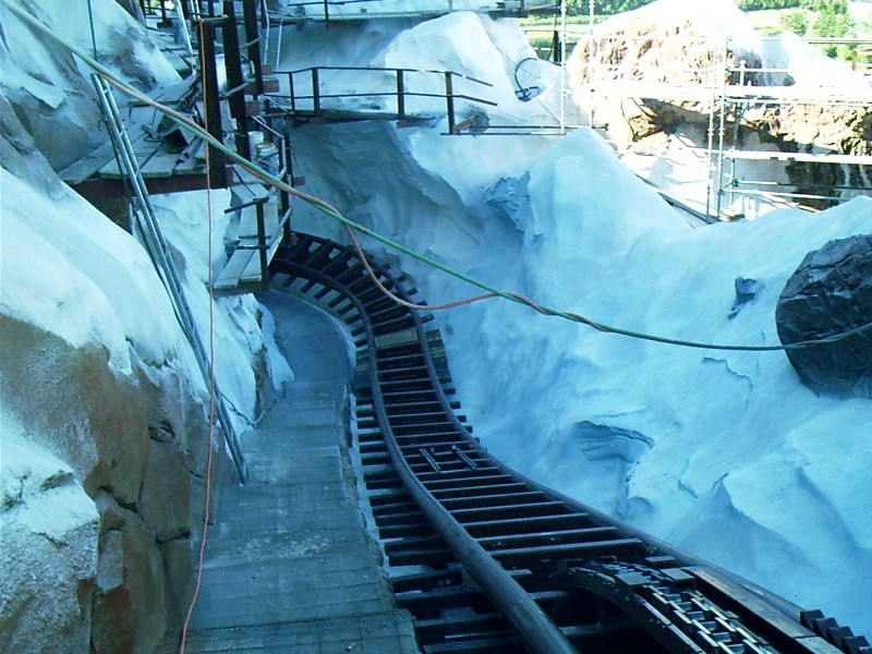 Expedition Everest construction - view of the track
