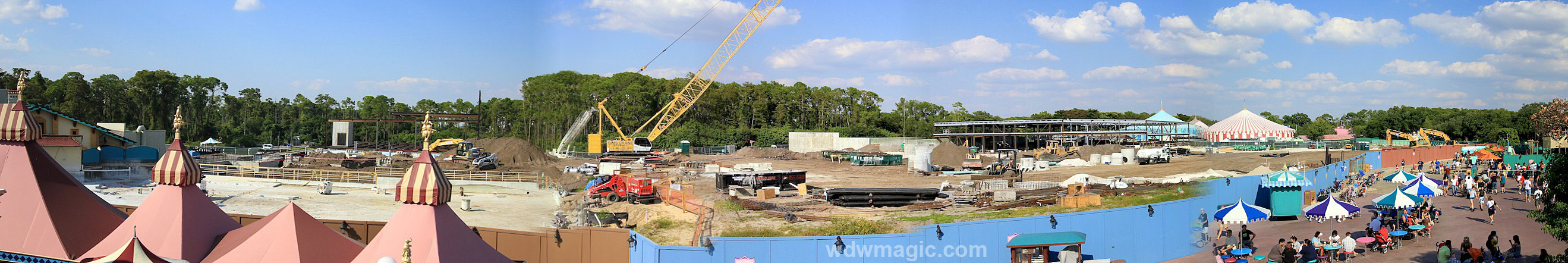 Panoramic view of construction site