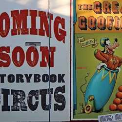 Storybook Circus construction wall art